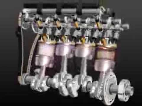 3D movie – how a car engine works
