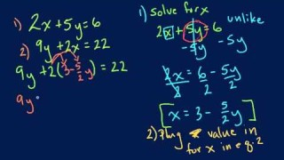Algebra – Solving Using Substitution Method