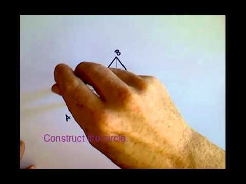 Constructing a Circle Inscribed in a Triangle