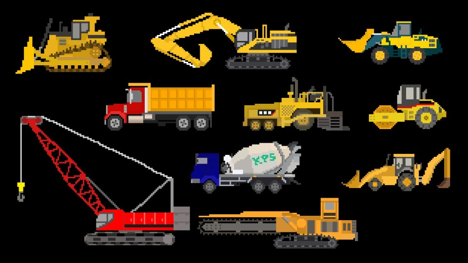 Construction Vehicles – Trucks & Equipment – The Kids' Picture Show (Fun & Educational)