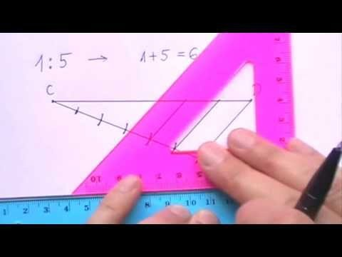 Dividing a Line Segment in a Given Ratio – on Paper
