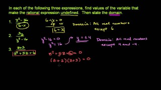 Domain of a Rational Expression 1