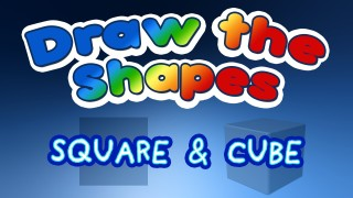 Draw the Shapes – SQUARE and CUBE – lesson for kids