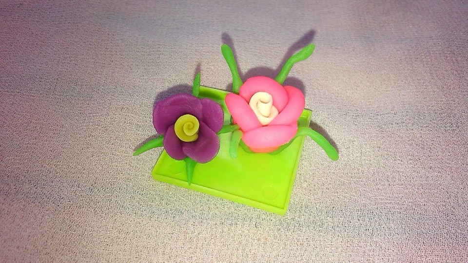 Easy Flower Making – Modelling Clay Crafts for Kids