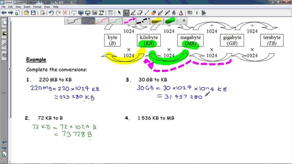 FSCo2: 2 Converting between B, KB, MB, GB, TB