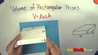 How to find the volume of a rectangular prism. Math video lesson for kids