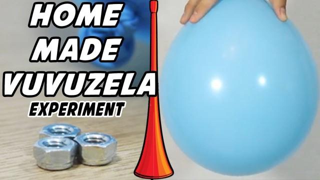How to Make a HomeMade Vuvuzela   Vuvuzela Sound & HomeMade Vuvuzela Science Experiment