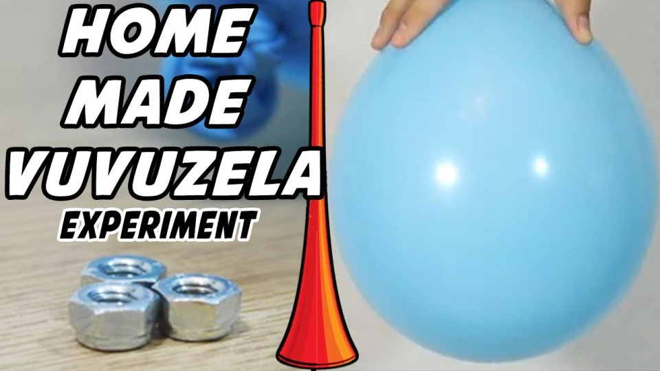 How to Make a HomeMade Vuvuzela | Vuvuzela Sound & HomeMade Vuvuzela Science Experiment