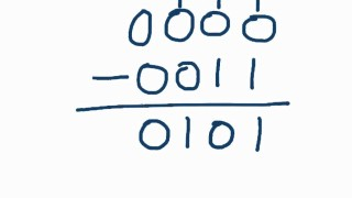 How to subtract binary numbers