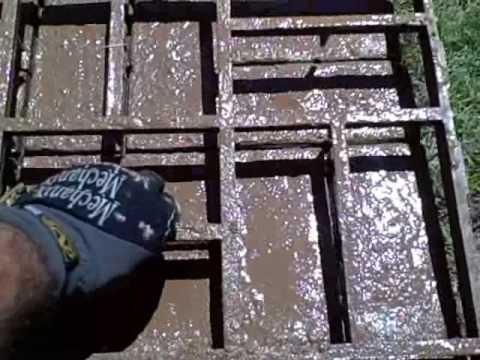 Making My Own Brickform Mold Concrete Walkway