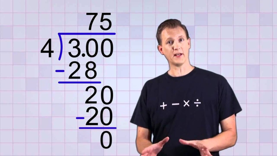 Math Antics – Convert any Fraction to a Decimal