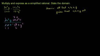 Multiplying and Dividing Rational Expressions 1