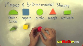 Planar and 3 D Shapes. Geometry lesson on shapes for kindergarten & 1st graders