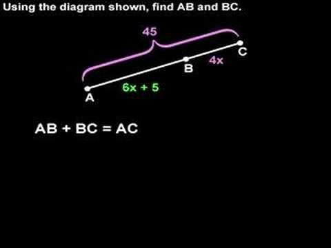 Segment Addition Postulate – MathHelp.com – Geometry Help