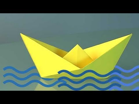 How to Make a Paper Boat, origami