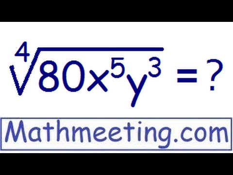 Simplifying radicals – High powered roots