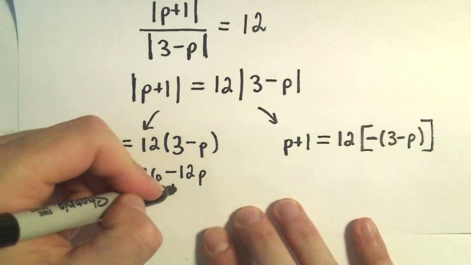Solving Absolute Value Equations Containing TWO Absolute Value Expressions – Example 1