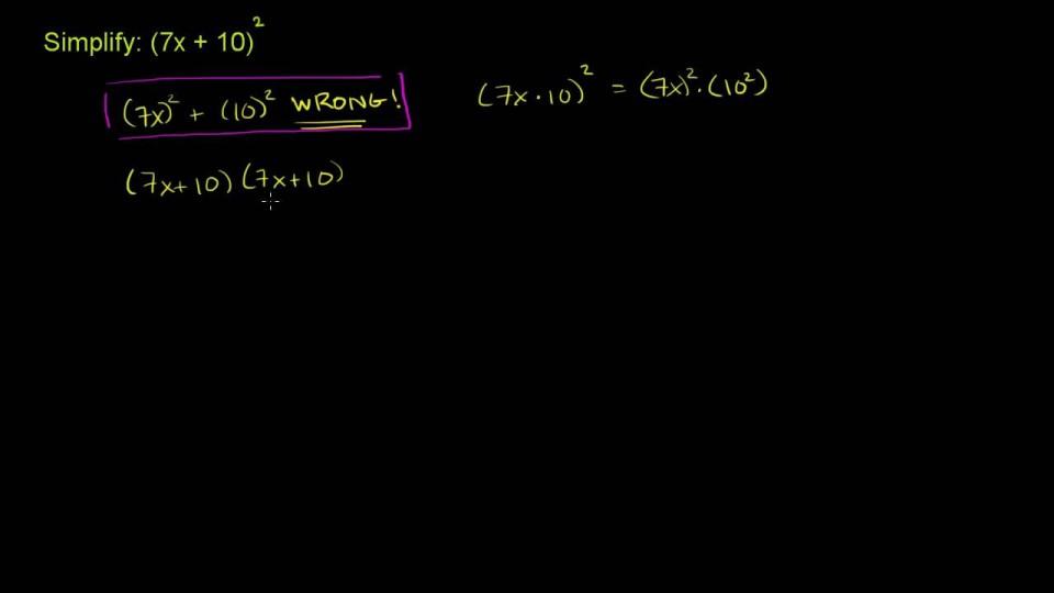 Square a Binomial