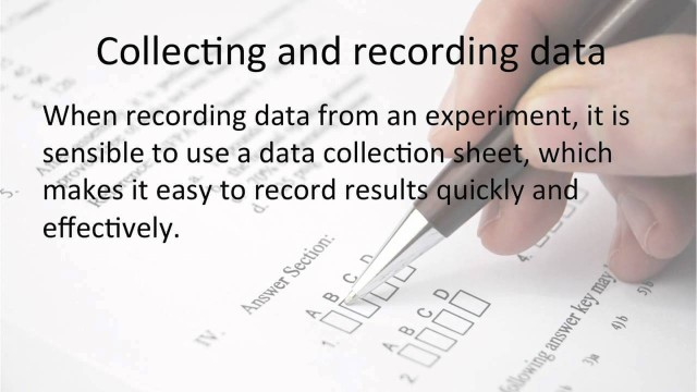 Statistics and Probability: Collecting and Recording Data (GCSE Maths)