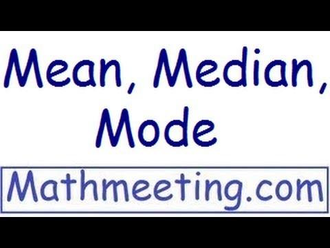 Statistics – Mean, Median, Mode