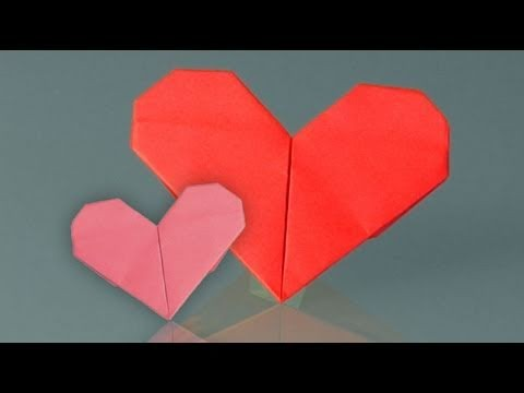 Learn origami, how to make a paper heart
