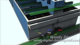 waste water treatment plant 3d animation