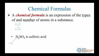 Chemistry Lesson: Chemical Formulas