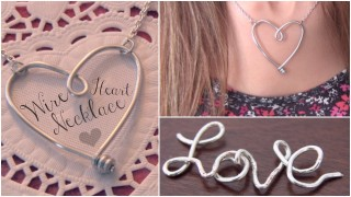 DIY Wire Heart Necklace Pendant – Name Jewelry How To