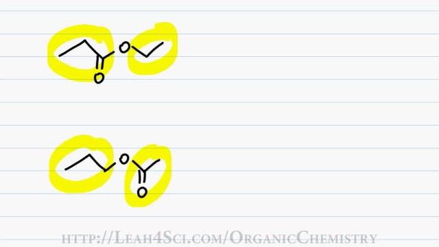 Naming Esters – Organic Chemistry IUPAC Naming by Leah4sci