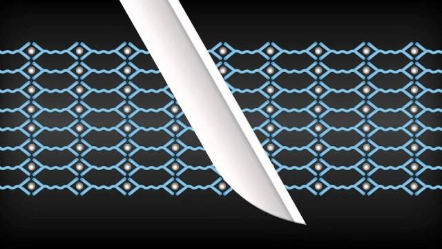 Self-healing polymer fixes scratches
