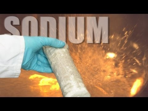 Sodium v Water (slow motion) – Periodic Table of Videos