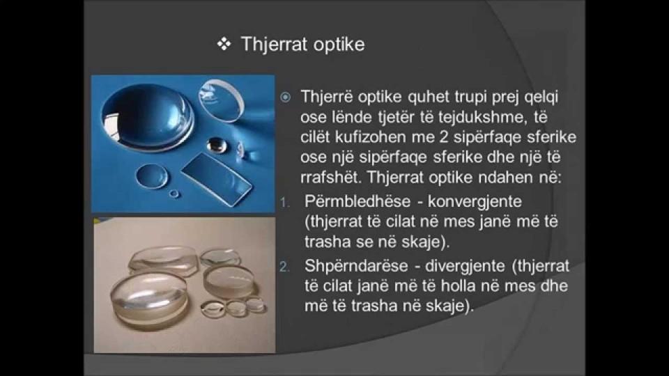 Optika gjeometrike, Arbesa Demi, nx e kl 9, prof Shqipe Llonçari