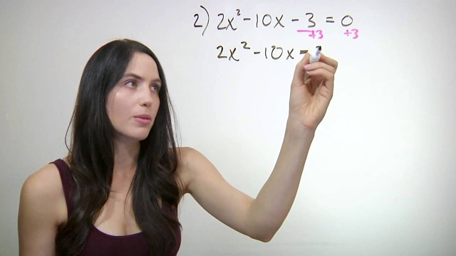 ❤² How to Solve By Completing the Square (mathbff)