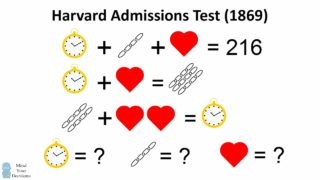 Can You Solve This Harvard Admissions Question? Algebra Problem, 1869