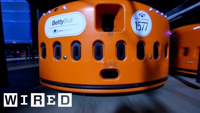 """High-Speed Robots Part 1: Meet BettyBot in """"Human Exclusion Zone"""" Warehouses-The Window-WIRED"""