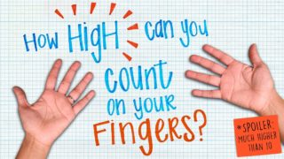 How high can you count on your fingers? (Spoiler: much higher than 10) – James Tanton