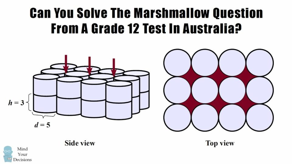 Can You Solve This Grade 12 Geometry Problem From Australia? The Marshmallow Chocolate Puzzle