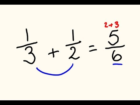 Fractions addition and subtraction trick – do them the fast way!