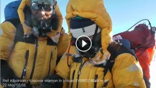 First Albanian – Kosovar woman in Mount Everest 8848m alt