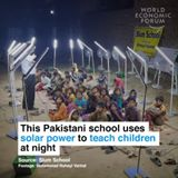 This Pakistani school uses solar power to teach children at night