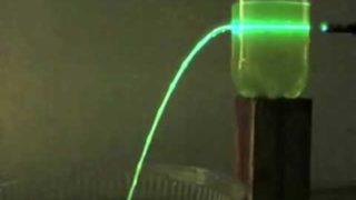 Total Internal Reflection (Laser Waterfall)